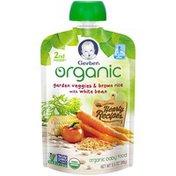 Gerber Organic 2 Nd Foods Organic Garden Veggies & Brown Rice with White Beans Baby Food