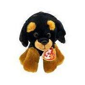 "TY Beanie Baby 6"" Regular Trevor the Rottweiller Stuffed Animal Toy"