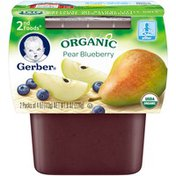 Gerber Organic 2 Nd Foods 2nd Foods Organic Pear & Blueberry Purees Fruit
