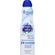 Kiss My Face Moisturizing Lotion, Light, Continuous Spray, Olive & Aloe, Fragrance Free