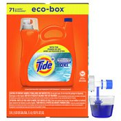 Tide Advanced Power With Oxi, Liquid Laundry Detergent Eco-Box, He Compatible