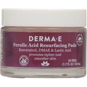 DERMA E Resurfacing Pads, Ferulic Acid