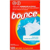 Bounce Fresh Linen Scented Fabric Softener Dryer Sheets