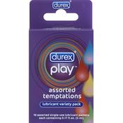 Durex Lubricant, Assorted Temptations, Variety Pack