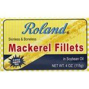 Roland Foods Mackerel Fillets, in Soybean Oil, Skinless & Boneless