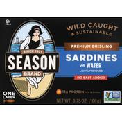 Season Sardines in Water, Premium Brisling