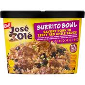 José Olé Burrito Bowl, Savory Pork in Zesty Red Chile Sauce