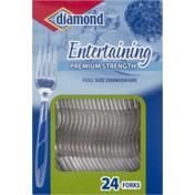 Diamond Dinnerware, Premium Strength, Forks, Entertaining, Full Size, Box