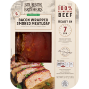 Bourbon Brothers Meatloaf, Smoked, Premium, Bacon Wrapped, Sleeve