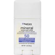TopCare Sunscreen Stick, Mineral, Broad Spectrum SPF 50