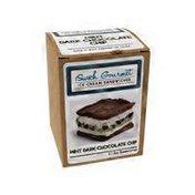 Iswich Mint Dark Chocolate Chip Ice Cream Sandwich