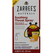 Zarbee's Naturals Soothing Throat Spray, Natural Grape Flavor