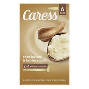 Caress 2-in-1 Bar Soap Shea Butter And Brown Sugar