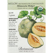 Botanical Interests Seeds, Melon, Muskmelon/Cantaloupe, Minnesota Midget