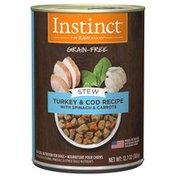 Instinct Stews Turkey & Cod with Spinach & Carrots Recipe Grain-Free Wet Dog Food