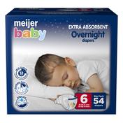 Meijer Premium Baby Overnight Diapers Size 6