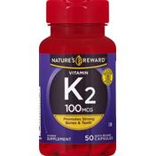 Nature's Reward K2, 100 mcg, Quick Release Capsules