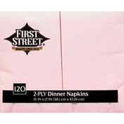 First Street Napkins, Dinner, Classic Pink, 2-Ply