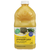 Food Club 100% Unsweetened Pineapple Juice From Concentrate With Added Ingredients