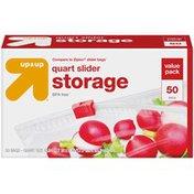 Up&Up Quart Slider Storage Bag
