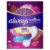 Always Daily Liners Regular Absorbency Unscented