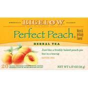 Bigelow Herbal Tea, Perfect Peach, Caffeine Free, Tea Bags