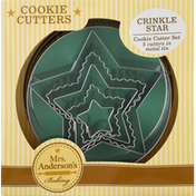 Mrs Andersons Baking Cookie Cutters, Crinkle Star