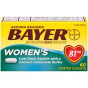 Bayer Low Dose with a Calcium Carbonate Buffer 81mg Coated Caplets Pain Reliever