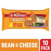 El Monterey Burritos, Bean & Cheese, Family Pack