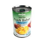 Meijer Yellow Cling Peach Halves In 100% Peach Juice & Pear Juice From Concentrate