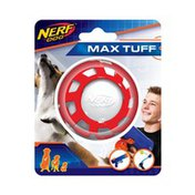 """NERF DOG 2.5"""" Red & Whote TPR Holiday Elite Exo Ball Dog Toy"""