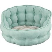 """Harmony 18"""" x 17"""" Seaglass Tufted Cat Bed"""