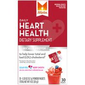 Meta Biotic Heart Health Meta Daily Heart Health Powder Dietary Supplement 30ct Packets Berry Smooth Laxative
