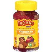 L'il Critters Vitamin D3 Gummies Dietary Supplement