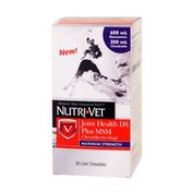Nutri-vet Hip & Joint Health Plus Maximum Strength Chewables for Dogs