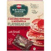 Hormel 3 Uncured Pepperoni & Mozzarella Flatbread Kit