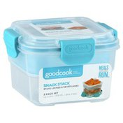 GoodCook Food Storage, Snack Stack, 3 Piece Set