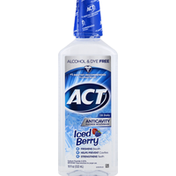 ACT Mouthwash, Anticavity Fluoride, Iced Berry