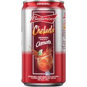 Budweiser Chelada with Clamato, Beer Can