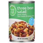 Food Club Three Bean Salad Green Beans, Wax Beans & Kidney Beans