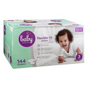Baby Basics Diapers, Flexible Fit, 3 (16-28 lb)