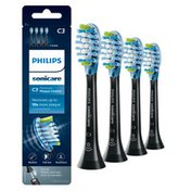 Philips Sonicare Premium Plaque Control replacement toothbrush heads, HX9044/95, BrushSync technology, Black
