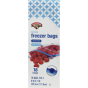 Hannaford Slider Quart Freezer Bags