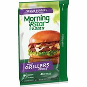 Morning Star Farms Veggie Burgers, Plant Based Protein, Grillers Prime