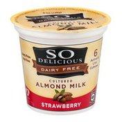 So Delicious Dairy Free Cultured Almond Milk Strawberry