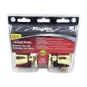 Master Lock Polished Brass Keyed Entry Tulip Handle