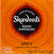 Sharwood's Puppodums, Indian, Spicy