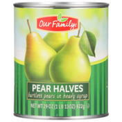Our Family Pear Halves Bartlett Pears In Heavy Syrup