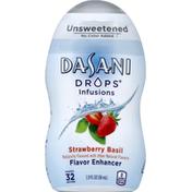 DASANI Flavor Enhancer, Strawberry Basil, Unsweetened