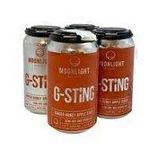 Moonlight Meadery Brewery G-Sting Ginger Honey Apple Cider
